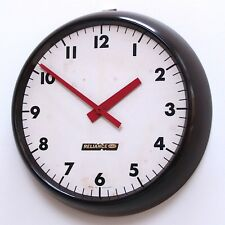 ENGLISH 1960s Gent Vintage Retro Modernist Industrial Factory Office Clock Gents