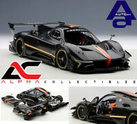 AUTOART 78272 1:18 PAGANI ZONDA R REVOLUTION CARBON FIBER BLACK SUPERCAR