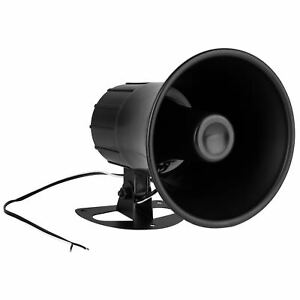 """5"""" Indoor / Outdoor Horn Speaker Black"""