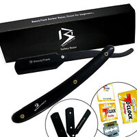 Barber - Cut Throat Straight Salon Shaving Razor Shave Rasoirs Rasoi + 10 Blades