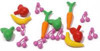 LEGO - 16 x Obst und Gemüse / Äpfel Bananen Möhren Kirschen NEUWARE