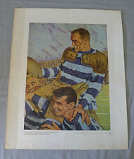 1960's La Prudential Canadian Lionel Conacher Football Souvenir Print