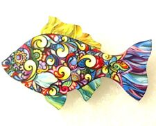 Fish Large Multicolor Acrylic Pin Brooch Jewelry
