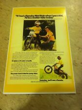 Vintage Yamaha Ty80 Trials Bike Poster Advertisement Man Cav Art Christmas Gift
