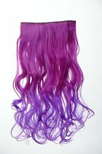 Extension Hair Extension Clip-in 5 Clip Curly Bi-Coloured OMBRE PURPLE 50CM LONG