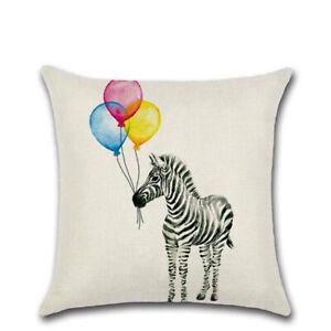 Zebra Panda Balloon Cushion Cover Waist Throw Pillow Case Home Sofa Decor YG