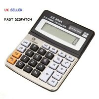 8 Digits Display Desktop Calculator, Dual Power with Sound - Business & Accounts