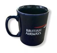 Vtg British Airways Blue Coffee Mug BA Graphics
