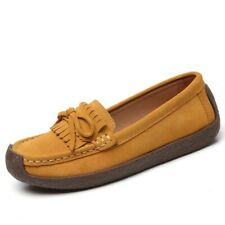 Womens Loafers Suede Fabric Moccasins Slip On Tassel Flats Shoes casual New B