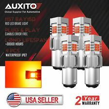4X AUXITO 1157 BAY15D Red LED Canbus Brake Tail Stop Light Bulb Super Bright US