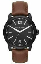 Michael Kors Men's Watch Dark Brown Leather Vonn Three Hand MK8651 $195