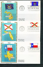 1976 FDC Set of 50 - Scott# 1633-82 - State Flags - Colorano Silk Cachet  UA