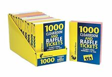 2 x Books of Cloakroom & Raffle Tickets Security Coded Numbered 1 - 1000