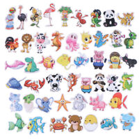 50Pcs Cute cartoon animal DIY scrapbook suitcase laptop guitar bike stickers I2