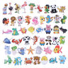 50Pcs Cute cartoon animal DIY scrapbook suitcase laptop guitar bike stickers S*