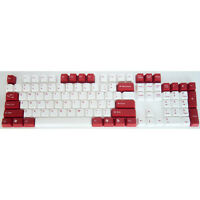 Double Shot Keycap Set for Cherry MX  Mechanical Keyboard 104 key Red-White
