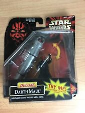 1998 Star Wars Episode 1. Deluxe Darth Maul Action Figure With Battle Lightsaber