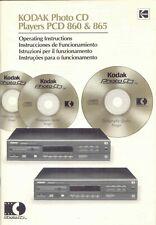 Manuale d'uso lettore Kodak PCD 860 & 865