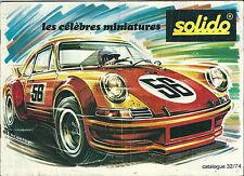 Catalogue Solido 1974 1:43 modélisme Age d'or militaire Tonergam Maxicar Maxicar