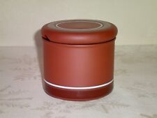 "Hornsea Sienna Covered Lidded Sugar Bowl 3.25"" Tall Excellent Condition Vintage"