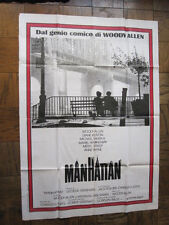 """RARE 55"""" X 39"""" GIANT WOODY ALLEN MANHATTAN POSTER WITH ITALIAN TEXT EXCELLENT"""
