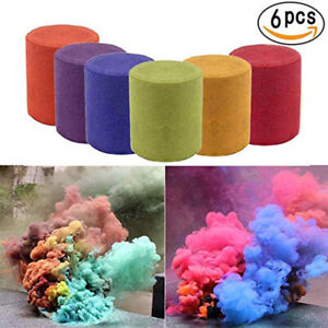 6X Multicolors Smoke Effect Cake Shows Bomb Stage Party Photography Aiding Toy!!