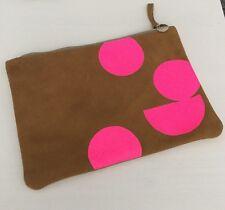 NEW Clare V Vivier Polka Dot Pouch Handbag Clutch