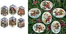 Counted Cross Stitch Kit CHRISTMAS VILLAGE~PLAYFUL SNOWMEN ORNAMENTS Dimensions