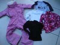 POIVRE BLANC Girls SKI SUIT BUNDLE pink fur collar 5 6 years quality designer