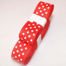 "3yds 5/8""(15 mm) Red Christmas Ribbon Printed lovely Dots Grosgrain"