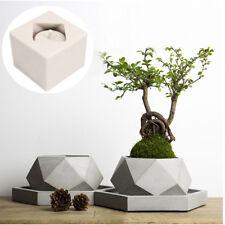 Silicone Mold New Geometric Flower Pots Concrete Cement 3D Vase Handmade Tool