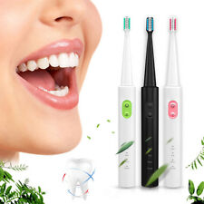 3 Cleaning Mode Rechargeable Ultrasonic Electric Toothbrush Teeth Clean+ 4 Heads