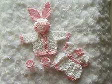 Pink & white set of clothes for a 6 inch OOAK sculpt  baby doll