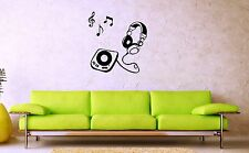 Wall Stickers Vinyl Decal Music Player Headphones ig1458