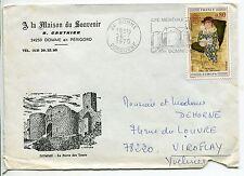 LETTRE DOMME POUR VIROFLAY 1975 PUBLICITAIRE LA PORTE DES TOURS FLAMME