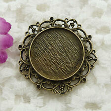 Free Ship 8 pieces bronze plated frame pendant 39mm #125