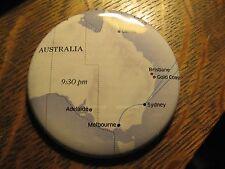 United Airlines UA Australia Sydney Melbourne Pacific Route Map Lapel Button Pin