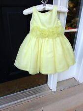 NWT Janie and Jack Special Occasion Yellow Silk Dress 4 Years $189