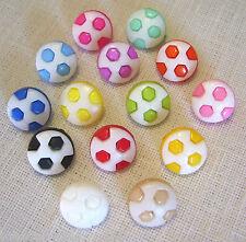 LOT de 6 BOUTONS BALLON FOOT ** 13 mm ** coloris au choix - tricot Enfant - B20