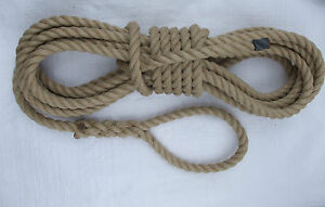 SYNTHETIC HEMP 14mm SPLICED MOORING ROPES / LINES - CHOOSE LENGTH TO SUIT