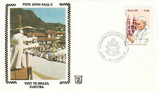 1980 POPE JOHN PAUL II CURITIBA BRAZIL VISIT POST COVER