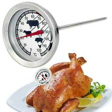 New listing 1x Stainless Steel Barbecue Bbq Smoker Grill Thermometer Food Meat Gauge Us