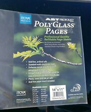 Itoya Polyglass Multi-Ring Pages For 14x11 Landscape NEW 10 sheets total