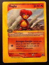 Carte Pokemon MAGBY 52/165 Rare Expédition Wizard Française
