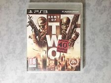 ARMY OF TWO IL 40° GIORNO SHOOTER CO-OP - SONY PS3 ITALIANO COMPLETO COME NUOVO