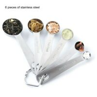 Measuring Spoons Stainless Steel Set of 6 for Measurement Tablespoon Cups