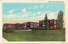 High School in Belleville IL Postcard