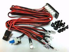 KIT LUCI 10 LED CON PORTALAMPADA T925 X AUTO MOTOSCAFI TRUCK BUGGY 1/10 1/8 VRX