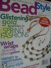 Bead Style Magazine March 2005- Gold/Wrist Wraps/13 Necklaces/Dangling Earrings