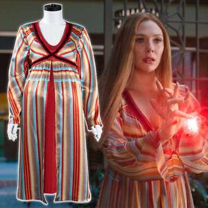 Wandavision Scarlet Witch Pregnancy Nightdress Cosplay Costume Halloween Costume